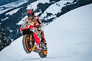 MotoGP Важливі новини Маркес на байку підкоряє австрійські снігові схили