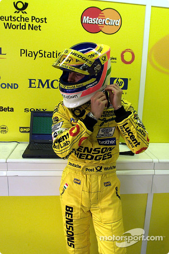 Jarno Trulli getting prepared