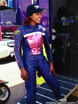 Pro Stock Bike rookie Peggy Llewellyn
