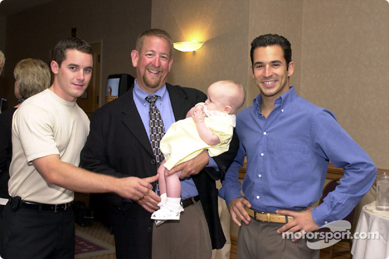 Casey Mears, Mark and Madison Wingler, Helio Castroneves