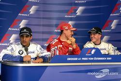Coletiva de imprensa: Juan Pablo Montoya, Michael Schumacher e Ralf Schumacher