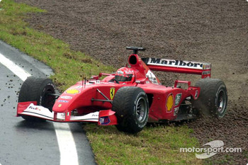 Michael Schumacher in trouble