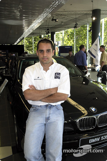 Juan Pablo Montoya and his company car