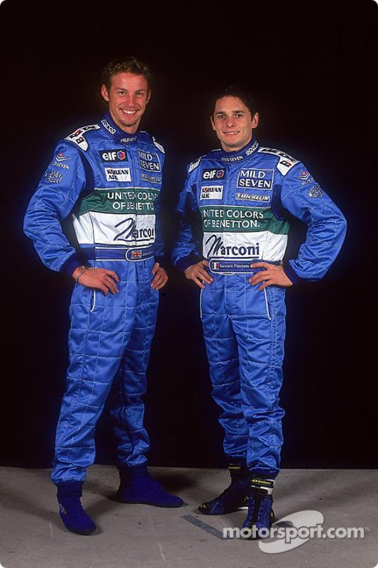 Drivers Jenson Button and Giancarlo Fisichella