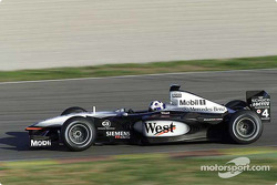 David Coulthard on the Valencia circuit