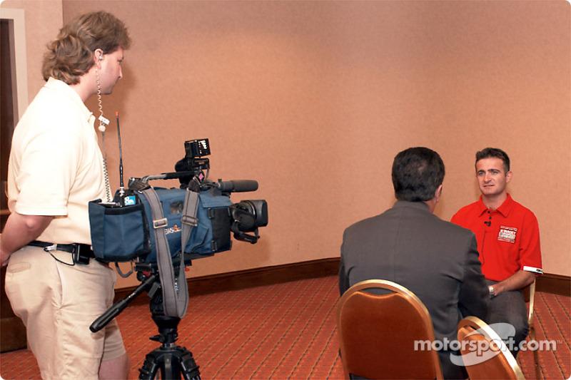 Nicolas Minassian before the TV camera