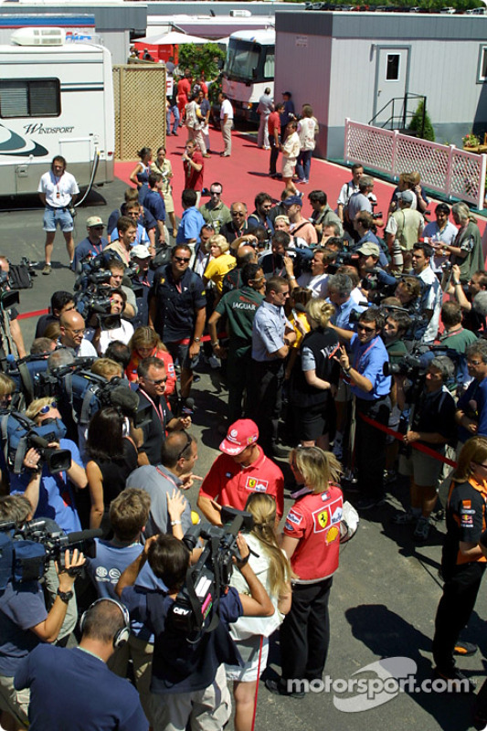 Thursday: interviews for Michael Schumacher and David Coulthard
