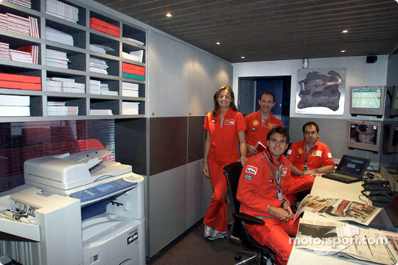 Visit of the Ferrari media unit: press office staff