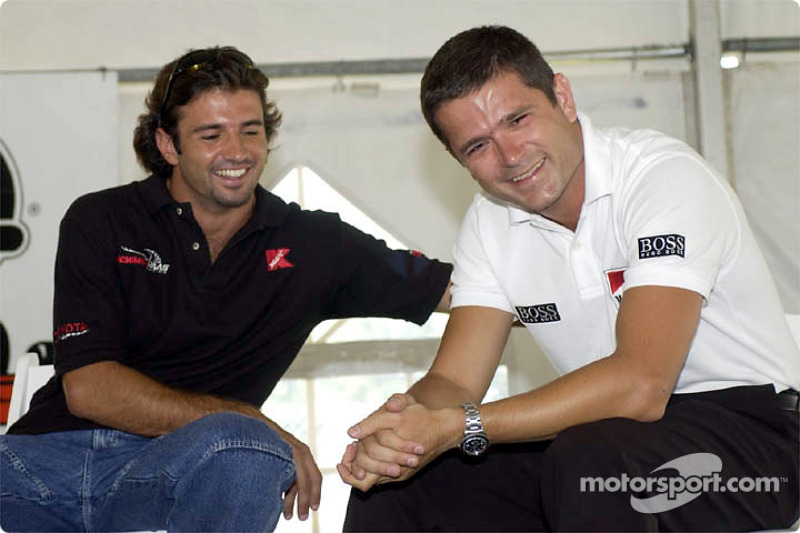 Christian Fittipaldi and Gil de Ferran having fun