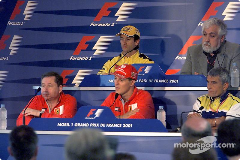 Thursday FIA press conference: Michael Schumacher, Jarno Trulli, Pierre Dupasquier, Enrique Scalabroni and Jean Todt