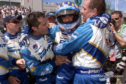 Alex Tagliani and Team Player's celebrating