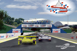 Rendering of the start/finish line