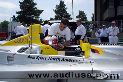 Rinaldo Capello discussing the Mid-Ohio circuit with Max Papis