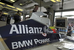 Ralf Schumacher waiting in his car