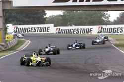 First lap: Jarno Trulli in front of Mika Hakkinen