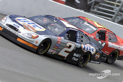 Rusty Wallace battles with Elliott Sadler