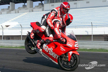 Randy Mamola and a lucky (?) passenger