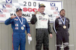 Race 14, F Production podium: National Champion Joe Huffaker, 2nd Bill Niemeyer and 3rd Mark Irwin