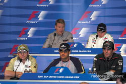 Thursday press conference: Jacques Villeneuve, Juan Pablo Montoya, Pedro de la Rosa, Mika Hakkinen and Kimi Raikkonen