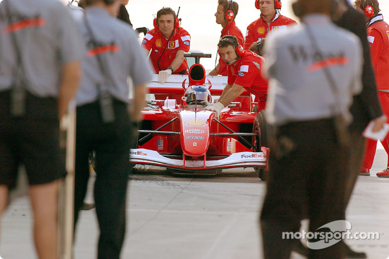 Getting ready for the race: Rubens Barrichello