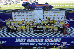 Sam Hornish Jr. and Pennzoil Panther Team celebrating
