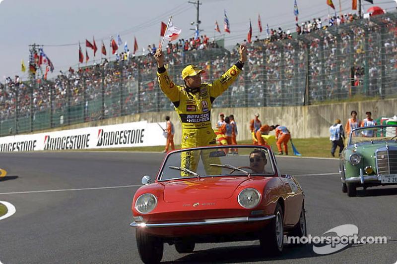 Drivers parade: Jean Alesi