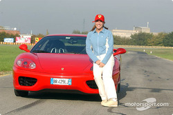 Jennifer Capriati on track at Fiorano: Jennifer and the Ferrari 360 Modena