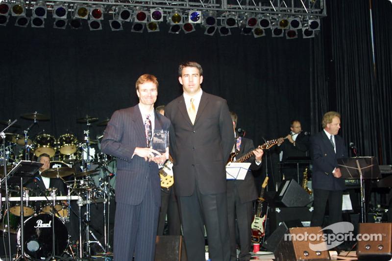 Buddy Lazier and Director of Indy Racing League Marketing Matt McCartin