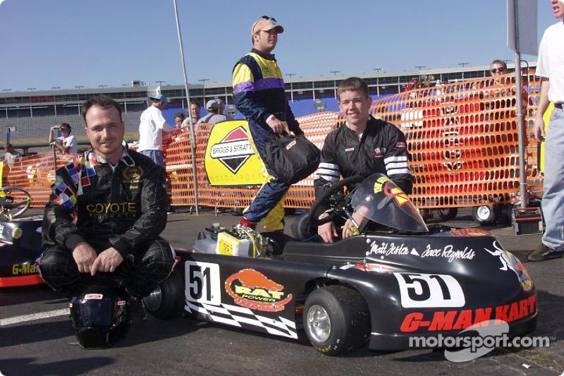 Pole winner Jace Reynolds and teammate Matt Jester wait on the grid