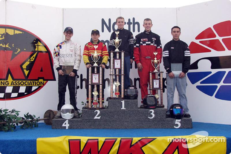Briggs Junior podium