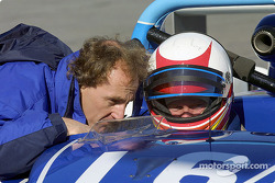 James Weaver and Rob Dyson confer during Daytona's Grand-Am testing