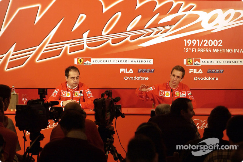 Press conference with Luciano Burti