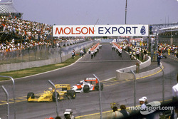 Before the start: Nelson Piquet and Alain Prost