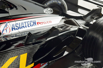 The new Minardi Asiatech PS02: detal of the engine cover