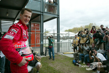 Photo shoot for Michael Schumacher