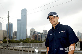 Compaq driver day: Juan Pablo Montoya in downtown Melbourne