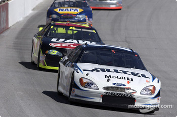 Ryan Newman leading Jerry Nadeau