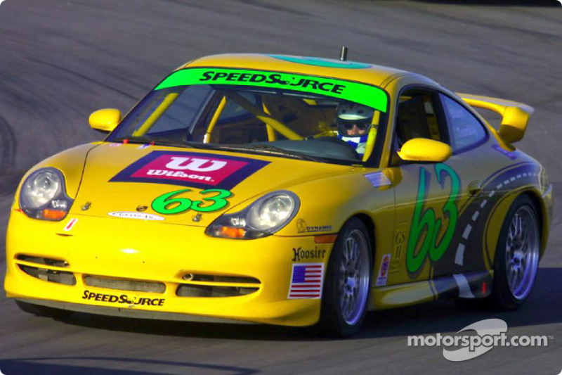 Sylvain Tremblay piloted the #63 SpeedSource Porsche 911 to the Grand Sport II pole