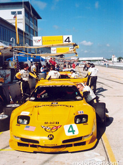 Team Corvette pit area