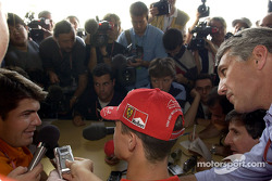 Interview time for Michael Schumacher