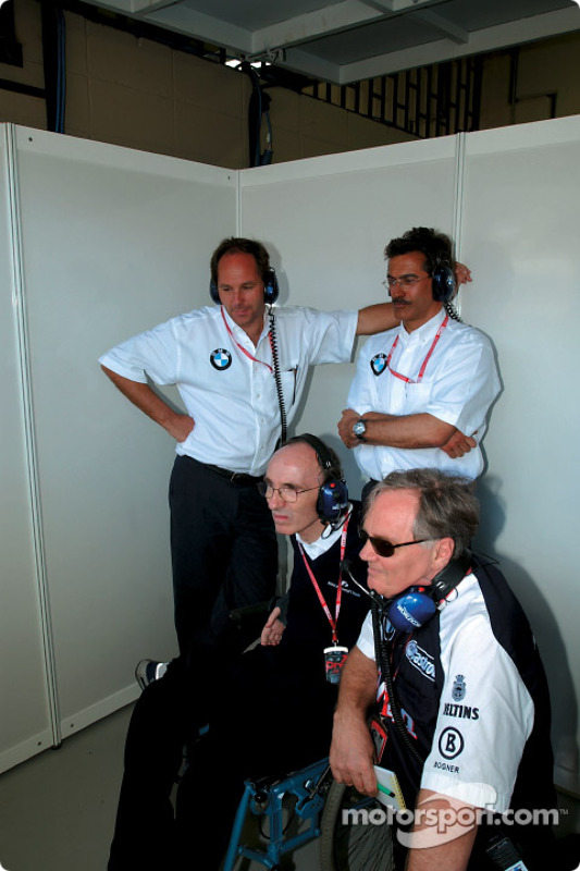 Frank Williams, Patrick Head, Gerhard Berger and Dr Mario Theissen