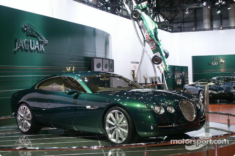 Jaguar stand with F1 car