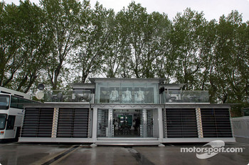 The West McLaren Mercedes Team Communications Centre is making its debut at Imola