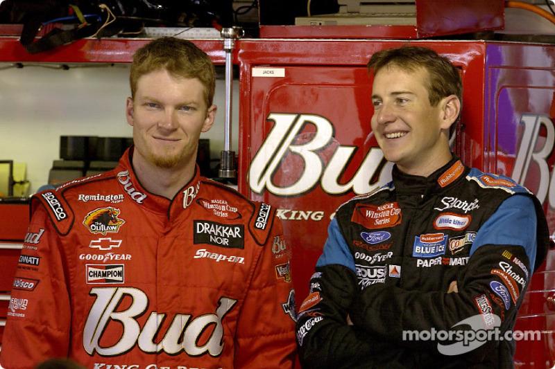 Dale Earnhardt Jr. and Kurt Busch