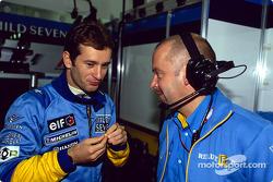 Jarno Trulli and Mike Gascoyne