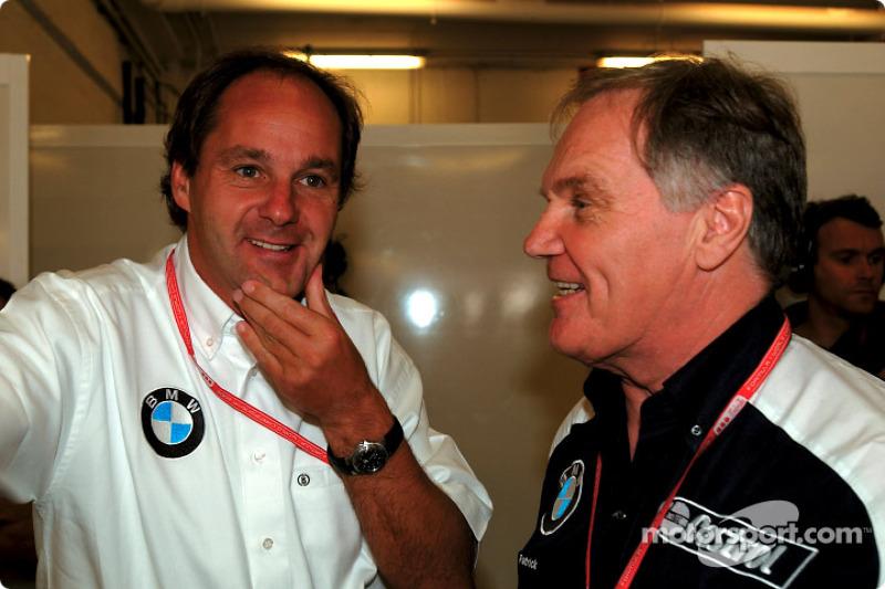 Gerhard Berger and Patrick Head