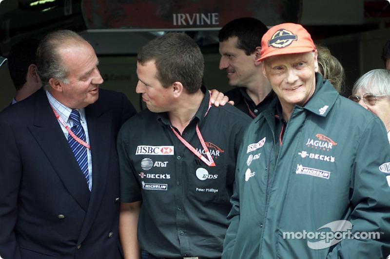King Juan Carlos and Niki Lauda
