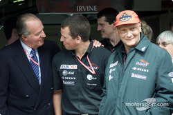 King Juan Carlos and Niki Lauda