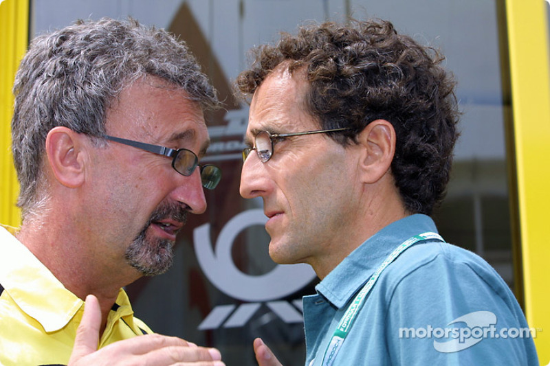 Eddie Jordan and Alain Prost