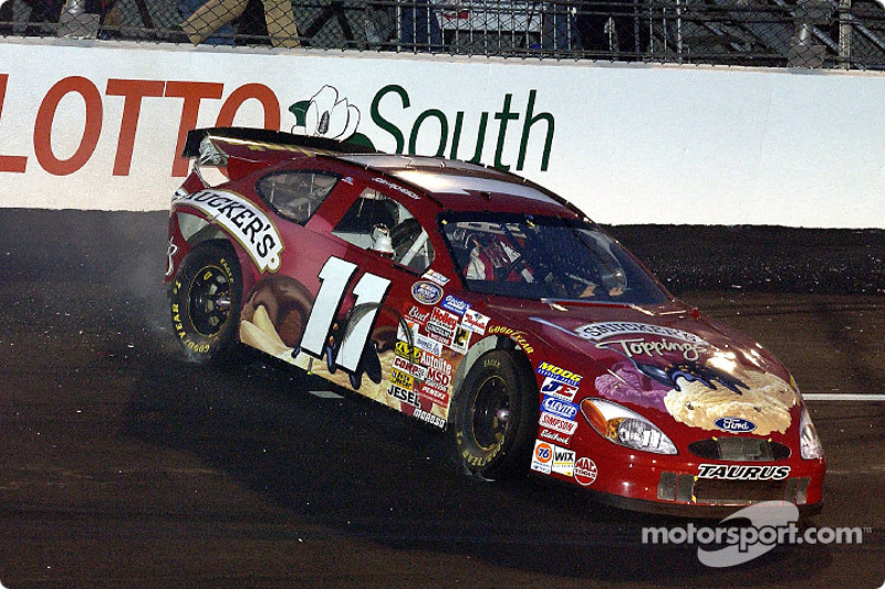 Josh Richeson in his first BUSCH race at Richmond ended early as the Smuckers Toppings Ford also made contact with the turn 2 wall